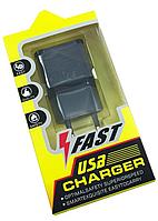 Сетевой адаптер питания Samsung Fast Charger на 1 USB вход 2.1A + USB-micro USB кабель