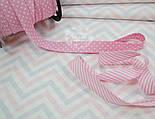 Ткань хлопковая Bora , серо-розовые зигзаги ( № 682 б), фото 3