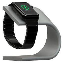 Подставка Nomad Stand для Apple Watch серебристая