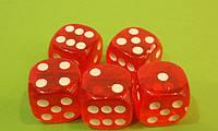 Кубик Игральный Прозрачный 18 Х 18 Мм