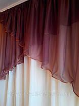 """Шторы - Ламбрикен + гардина """"Кофеин"""", комплект в гостинную, фото 3"""