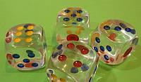 Кубик Игральный Прозрачный 34 Х 34 Мм