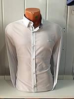 мужская рубашка белая однотонная BLACK STONE