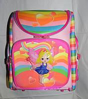 Школьный каркасный ранец для девочек