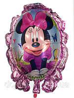 Фольгированный воздушный шарик зеркало Минни Маус 70 х 59 см