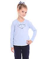 Школьная рубашка голубая