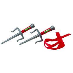 Набор игрушечного оружия серии ЧЕРЕПАШКИ-НИНДЗЯ - боевое снаряжение Рафаэль (2 кинжала-сай, бандана) (92034)