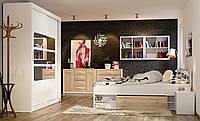 Спальня Nepo Black Red White