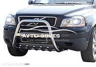 Защитная дуга бампера для Volvo XC90 тип: высокий  с логотипом (п.к. RR04)