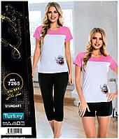 """Комплект домашней одежды футболка+шорты+бриджи """"Lady Lingerie"""" Турция"""