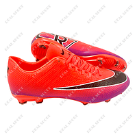 Бутсы (копы) Nike Mercurial CR7 Orange FB180003 (р-р 40-45, оранжево-фиолетовый)