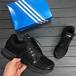 Мужские кроссовки Adidas ClimaCool Black. Живое фото (Реплика ААА+), фото 8