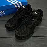 Мужские кроссовки Adidas ClimaCool Black. Живое фото (Реплика ААА+), фото 9