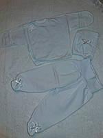 Комплект одежды для новорожденных из 3-х предметов белый! Украина!, фото 1