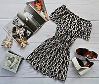 Летнее платье «Трансформер» три варианта носки, супер яркий принт: зайки на черном
