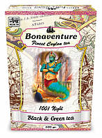 Чай Bonaventure 1001 ночь черный и зеленый с земляникой 100 г.