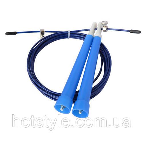 Скакалка скоростная со стальным тросом для кроссфита, 3м, регулируемая
