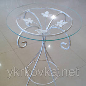 Журнальный столик белый высокий прованс