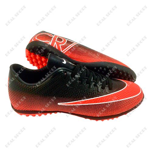 Обувь футбольная сороконожки Nike Mercurial CR7 Black FB180005 (р-р 36-45, 00535cabaa5