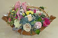 Большая корзина с цветами на стол, фото 1