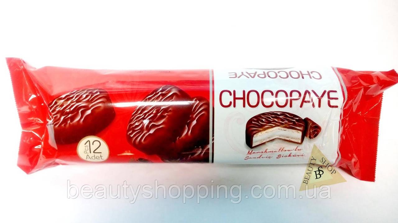 Шоколадне сендвіч печиво з глазур'ю Chocopaye 12 штук 216 гр Туреччина