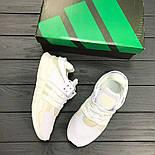Кроссовки Adidas EQT White. Живое фото. Топ качество! (Реплика ААА+), фото 3