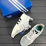 Кроссовки Adidas EQT grey/white. Живое фото. Топ качество! (Реплика ААА+), фото 2