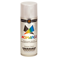 Краска аэрозольная металлик Monarca Яркий Хром 520 мл
