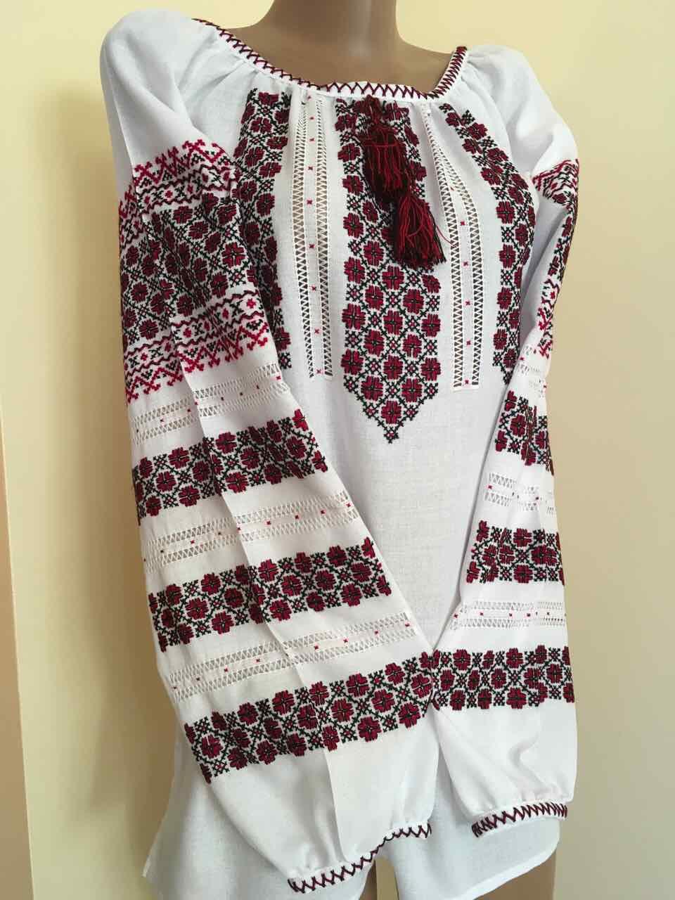 Вишита сорочка жіноча ручної роботи розмір 52 (3ХL)  продажа 5e12ba60e374f