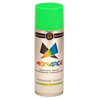 Краска аэрозольная флуоресцентная Monarca Зеленая 520 мл