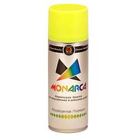 Краска аэрозольная флуоресцентная Monarca Желтая 520 мл, фото 1