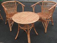 Круглый стол с 2 креслами