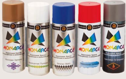Краски аэрозольные Monarca