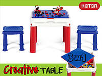 Стол для игры с конструктором 3в1 Keter Constructable 17210603