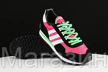 Женские кроссовки Adidas Originals ZX400 Hyper Pink Black White Lime Green Адидас ZX черные, фото 3