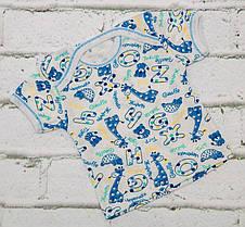 Футболка ясельная Лодочка 68/74 см кулир цвета разные