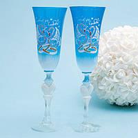 Свадебные традиционные бокалы для битья, разбивания | модель 53