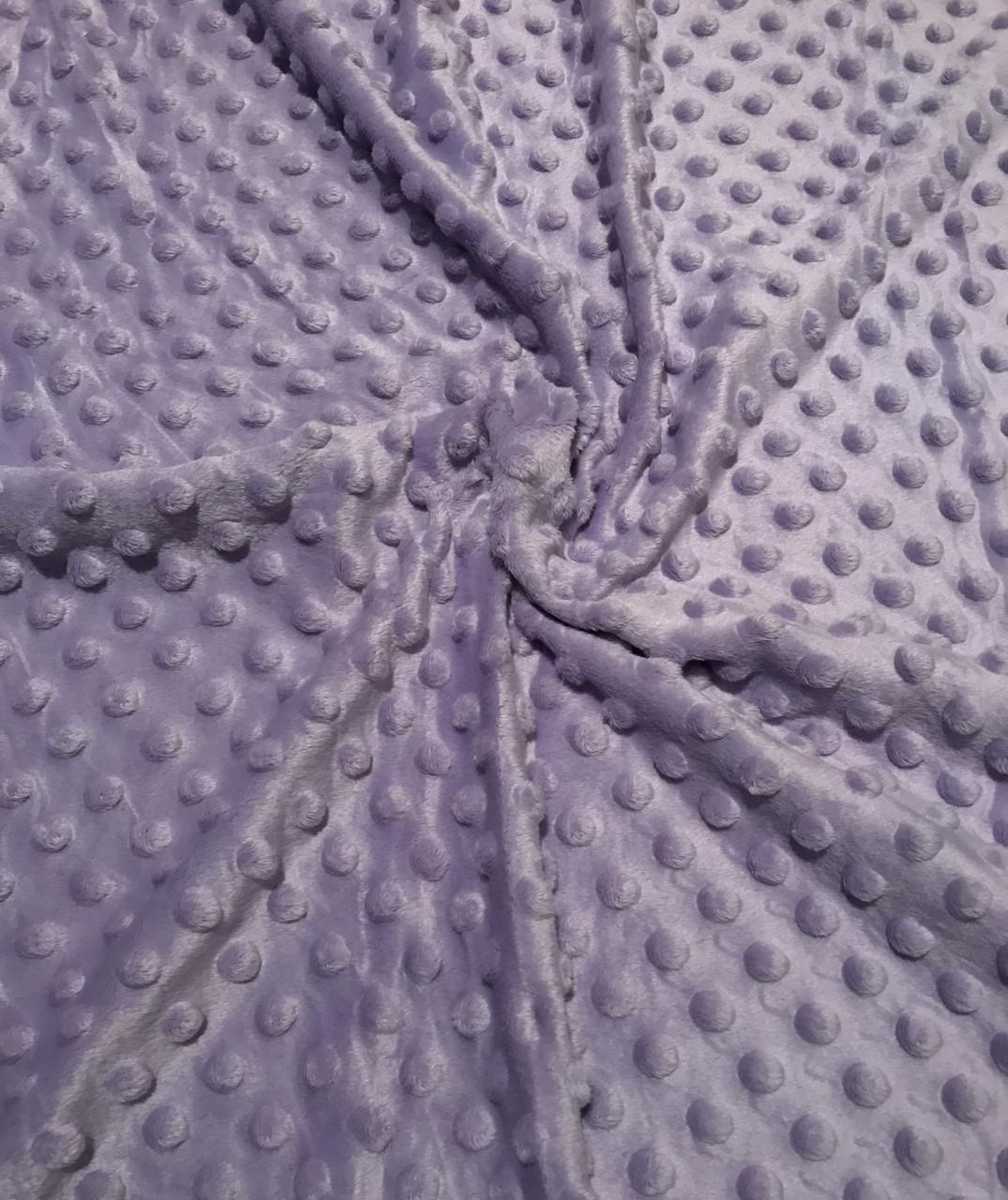 Плюшевая ткань Minky лавандовый (плот. 350 г/м.кв)