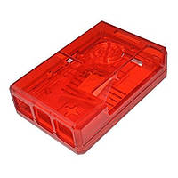Корпус для Raspberry Pi 2 B / Raspberry Pi 3 B  червоний прозорий, фото 1