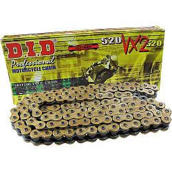 Мото цепь 520 DID 520VX2 G&B черно - золотая для мотоцикла количество звенье 102-130