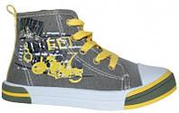 Стильные, польские высокие кеды American club аля Converse для детей р.26,27,28,29,30 цвет хаки с желтым
