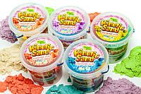 Песок кинетический, Живой песок для творчества 500 гр + Формочки Украина Supergum