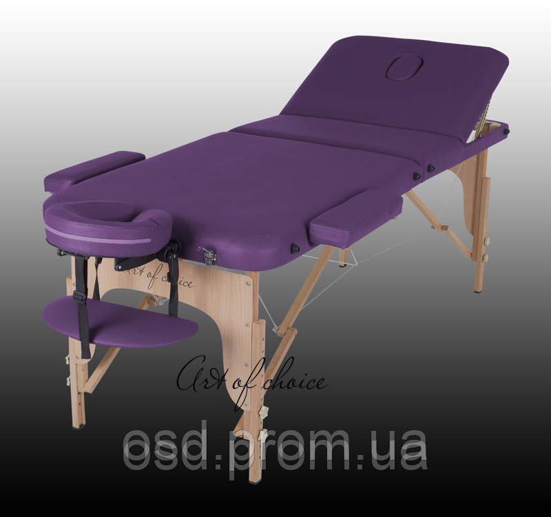 Трехсекционный массажный деревянный стол DEN - Медтехника «Здоровая жизнь» - инвалидные коляски, кровати медицинские, массажное оборудование в Запорожье