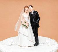 Керамика | Статуэтка на свадебный торт Молодожены, 13 см