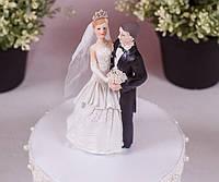 Керамика | Статуэтка на свадебный торт Жених и невеста, 13 см