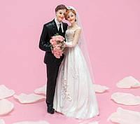 Керамика | Фигурка на свадебный торт Жених и невеста, 15 см