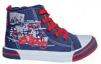 Стильные, польские высокие кеды American club аля Converse для детей р.26,27,29,30 цвет синий с красным
