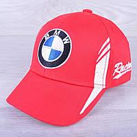 """Кепка детская """"BMW"""". Размер  50-52 см. Красная. Оптом."""