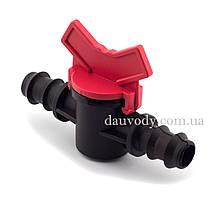 Кран соединительный для капельной трубки 16 мм