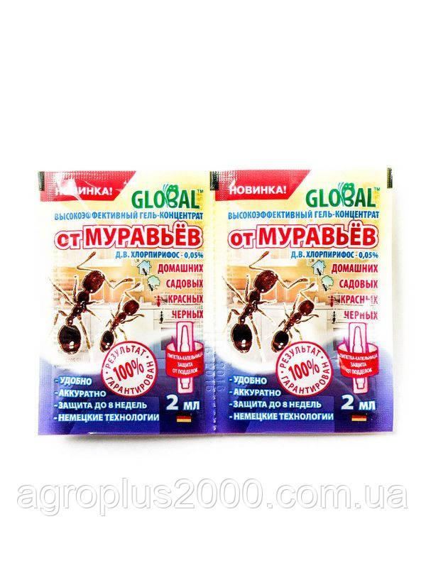 Инсектицидный Гель-концентрат от муравьев Global (Глобал) 2 мл  - Агроплюс2000 в Харькове